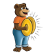 Bear Playing Cymbals