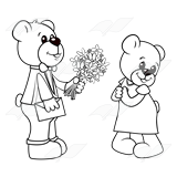 Bear Giving Flowers