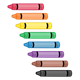 Eight Crayons rainbow colors