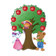 Apple Tree with Button Bear, Amber Lamb, and Katie Kitten