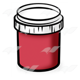Red Paint Jar