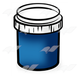 Blue Paint Jar