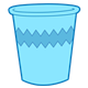 Blue Cup with a zigzag pattern