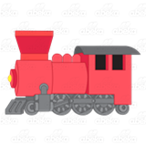 Red Train Engine