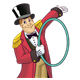 Ringmaster holding a ring