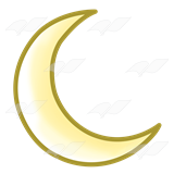 Yellow Crescent Moon