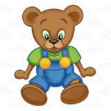 Button Bear Sitting
