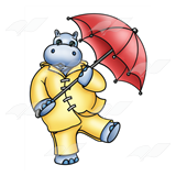 Rainy Day Hippo