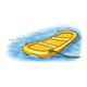 Yellow Raft in water