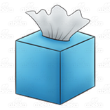 Blue Tissue Box