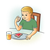 Boy Eating Toast Color PNG
