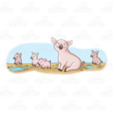 Five Pigs