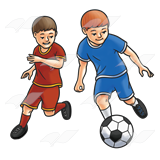 Boys Playing Soccer