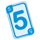 Blue Five Card