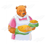 Mom Bear with Pies