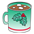 Green Christmas Mug Color PNG