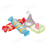 Four Wrapped Candies