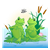 Pond Scene Color PNG