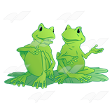 Two Conversing Frogs