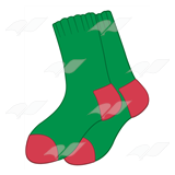 Red and Green Socks