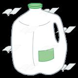 Abeka   Clip Art   Gallon Milk Jug—with a green cap