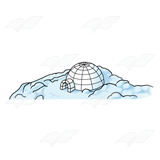 Igloo and Snow