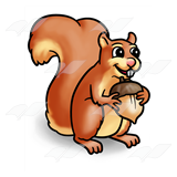 Tan Squirrel with Nut