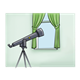 Telescope at window