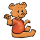 Waving Bear with red shirt