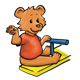 Waving Bear on teeter-totter