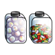 Two Candy Jars fruit candy and  jawbreakers