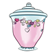 Candy Jar with pink candy