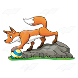 Fox with Ball