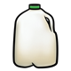 Milk Jug with green cap
