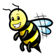 Bee 8 grinning