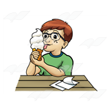 Boy Licking Ice Cream