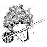 Wheelbarrow of Money