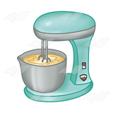 Mixer with Batter in Bowl