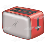 Red and Gray Toaster