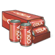 Open Case of Cola with two cans