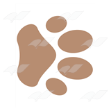 Brown Paw Print