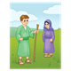 Bible Times Boy and Girl in field scene
