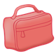 Rectangular Red Lunchbox with zipper