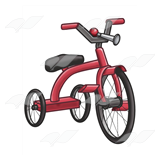 Red Tricycle with Horn