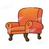 Overstuffed Orange Chair