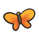Orange Butterfly with brown body