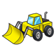 Wheel Loader yellow