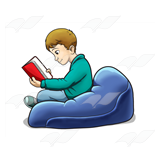Boy in Beanbag Chair