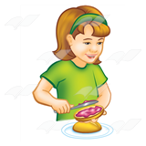 Girl Making Sandwich