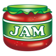 Jar of Red Jam with green label